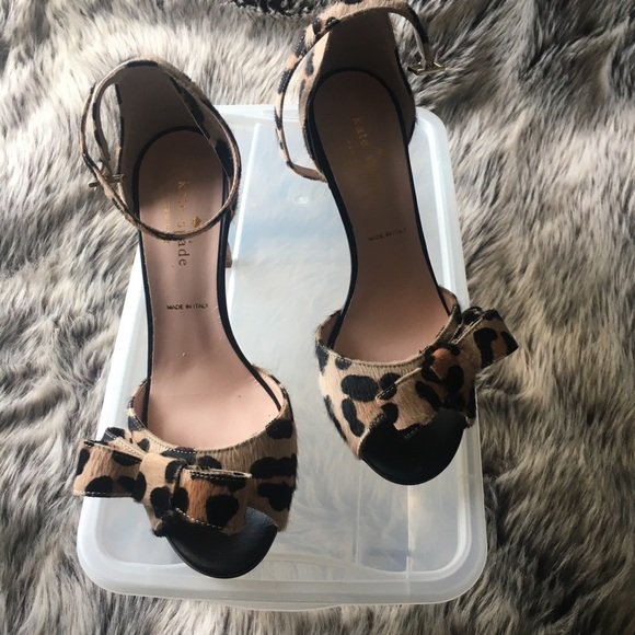 bfd1588853e3 KATE SPADE LEOPARD HEELS WITH BOW- NEW W O BOX